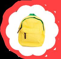 Детский рюкзак Жёлтый
