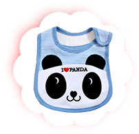 Слюнявчик Панда